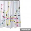 """Cortina de baño """" Metro """""""