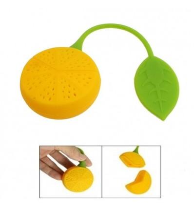 Infusionador de silicona en forma de fruta