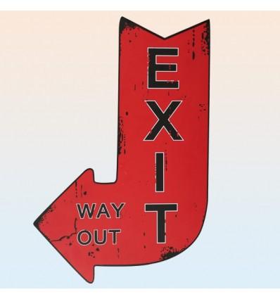 Cuadro flecha Exit vintage
