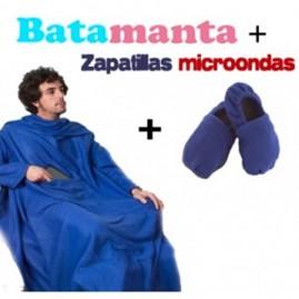 """Conjunto """" Batamanta y zapatillas microondas azul"""""""