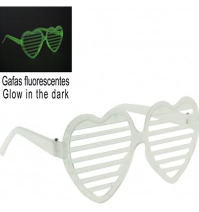 Gafas fluorescentes corazón