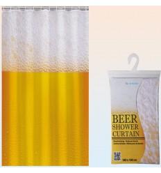 Cortina de baño cerveza