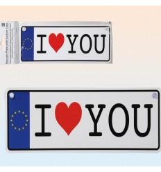"""Placa """"I LOVE YOU"""""""