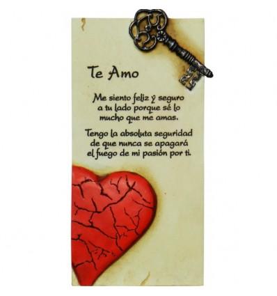 """Arte en piedra """"Te amo"""""""