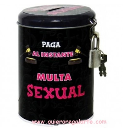Bote hucha multa sexual