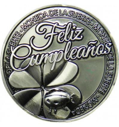 Moneda de la suerte Feliz cumpleaños.