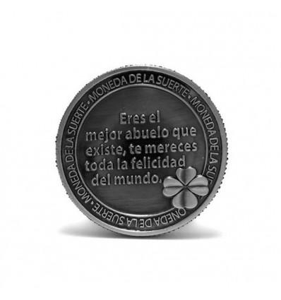Llavero con moneda de la suerte Querido Abuelo