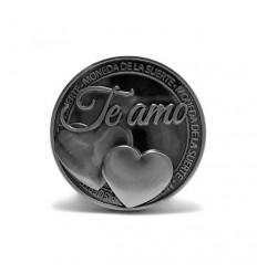 Llavero con moneda Te amo corazón.