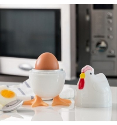 Cuece huevos para microondas Gallina.