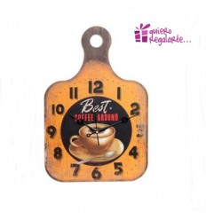 "Reloj de pared tabla de cortar ""Coffe"""