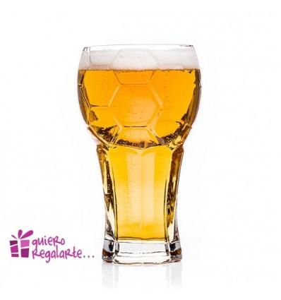 Vaso de cerveza para futboleros