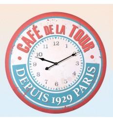 "Reloj grande de pared ""Café de la Tour"""