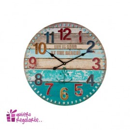 "Reloj de pared ""Life is good at the Beach"""