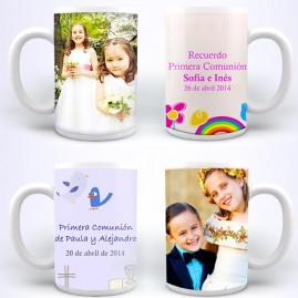 Tazas personalizadas  para primera comunion, boda, bautizo