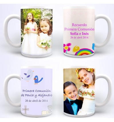 Tazas personalizadas  para primera comunión personalizadas