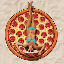 Toalla de playa pizza gigante