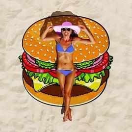 Toalla de playa hamburguesa gigante
