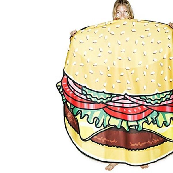 Toalla de playa hamburguesa gigante quiero regalarte tu - Toallas de playa originales ...