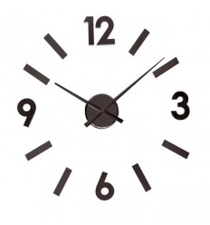Reloj de pared Sticky negro