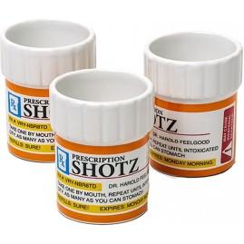 Set de 3 chupitos  prescripción médica.