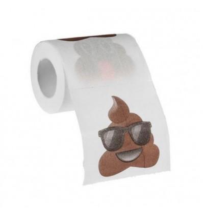 Papel higiénico emoticono caca