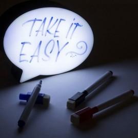 Pizarra para mensajes con luz led