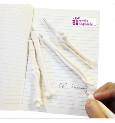 Boligrafos con forma de huesos ( 5 unidades )