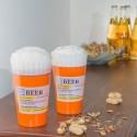 Set de dos vasos de cerveza prescripción médica