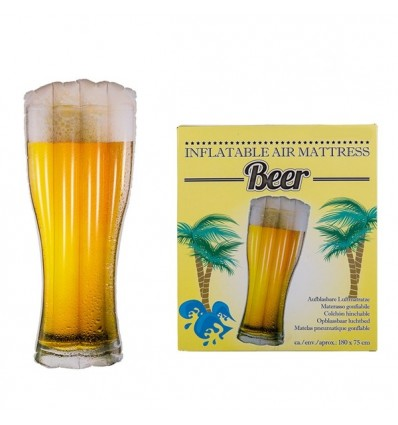 Colchoneta hinchable cerveza