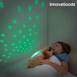 Peluche original perro proyector de estrellas