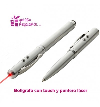 Boligrafo con touch y puntero laser