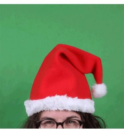 Gorro de Navidad con música y movimiento.