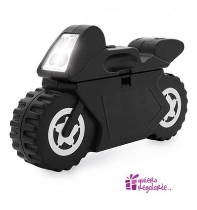 Caja de herramientas en forma de moto