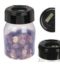 Hucha con contador de monedas