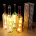 Botella decorativa con luces led
