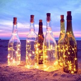 Tapón para botellas con guirnalda de luces led