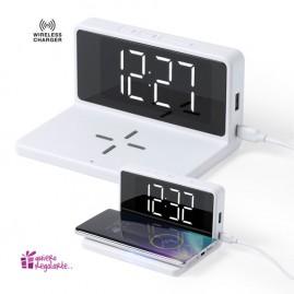 Reloj digital con cargador inalámbrico