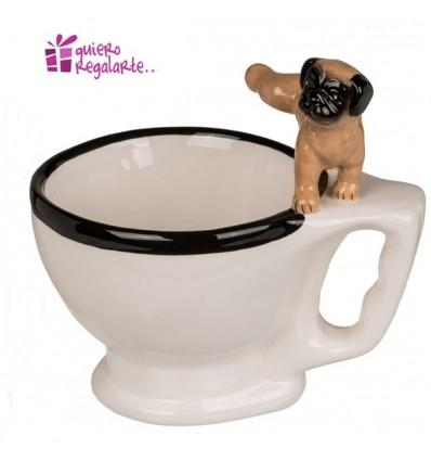 Taza váter con perro orinando