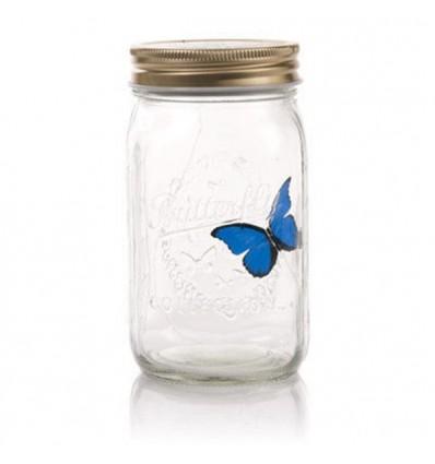 Mariposa en frasco