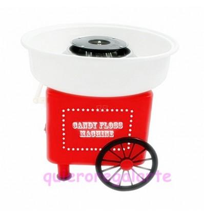 Maquina de algodón de azucar de feria.