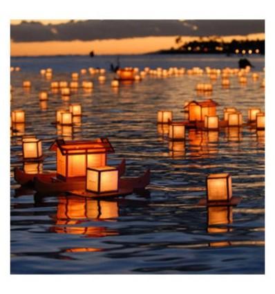 lampara flotante acuática