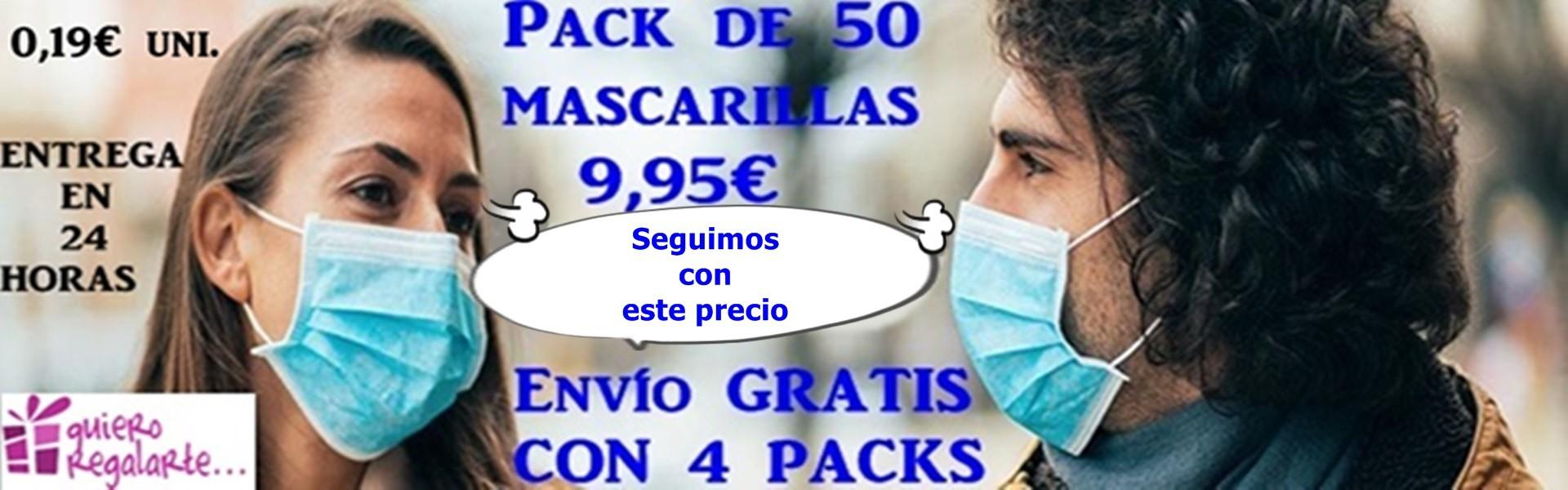 Mascarillas quirúrgicas homologadas 0,19